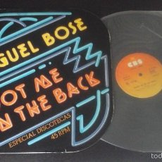 Discos de vinilo: MIGUEL BOSÉ - SHOOT ME IN THE BACK / MICHAEL STONE - BRAVO NEW YORK - MAXI MUY RARO CASI NUEVO. Lote 60074011