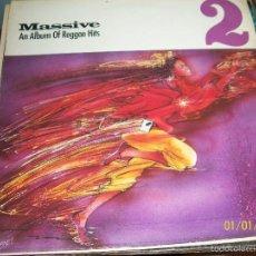 Discos de vinilo: ASWAD / CARROLL THOMPSON / TIPPA IRIE, ETC - MASSIVE II. AN ALBUM OF REGGAE HITS - LP 1986. Lote 60077171