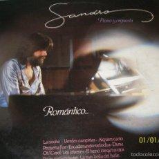 Discos de vinilo: LP SANDRO - PIANO Y ORQUESTA - ROMANTICO…. Lote 60081643