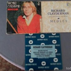 Discos de vinilo: LOTE 3 SINGLES RICHARD CLAYDERMAN. Lote 60083183