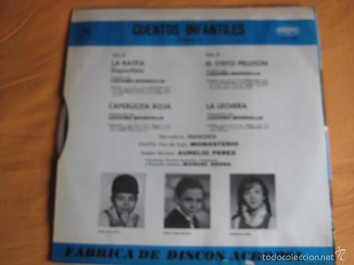 Discos de vinilo: CUENTOS INFANTILES LP ACROPOL 1968 isabel maria TELEVISION TVE - Foto 7 - 240261705