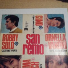 Discos de vinilo: SAN REMO 1966 - BOBY SOLO / GINO / ORNELLA VANONI / WILMA GOICH - SINGLE VINILO. Lote 60088703