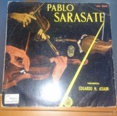 Discos de vinilo: PABLO SARASATE. AIRES GITANOS, ZAPATEANDO,.... Lote 60090055