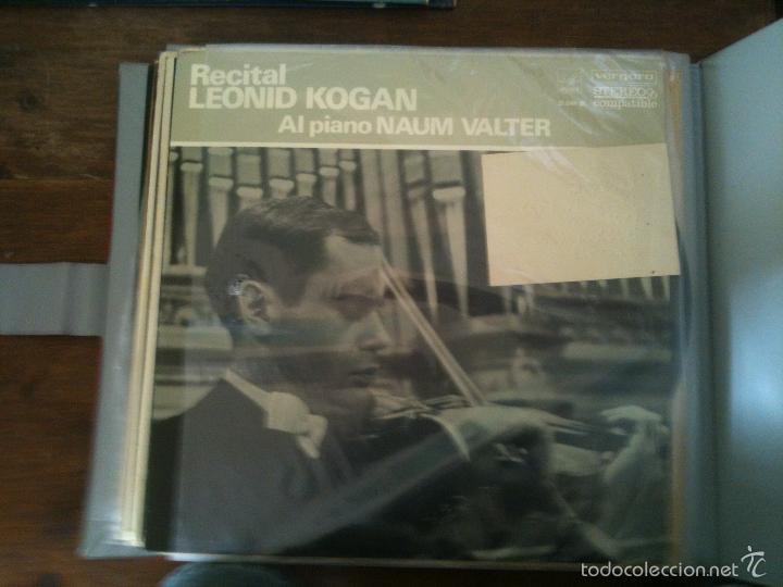 RECITAL DE LEONID KOGAN-AL PIANO NAUM VALTER (Música - Discos de Vinilo - Maxi Singles - Clásica, Ópera, Zarzuela y Marchas)