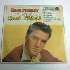 Discos de vinilo: ELVIS PRESLEY.KING CREOLE.EP.EDICIÓN DE ALEMANIA.RCA.DISCO CON TRI-CENTER INCLUIDO.. Lote 60114975