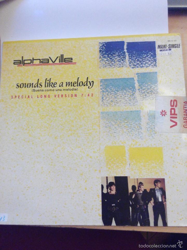 ALPHAVILLE - SOUNDS LIKE A MELODY - SUPER SINGLE VINILO (Música - Discos de Vinilo - EPs - Techno, Trance y House)