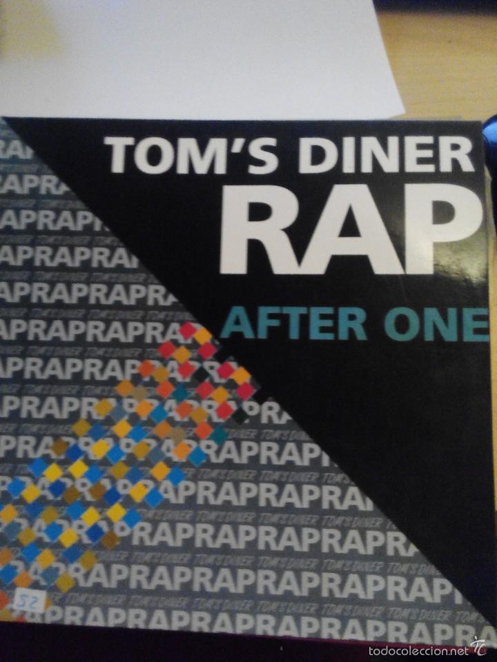 TOM'S DINER RAP - AFTER ONE - SUPER SINGLE VINILO (Música - Discos de Vinilo - Maxi Singles - Rap / Hip Hop)