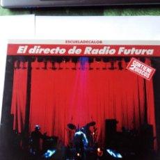 Discos de vinilo: RADIO FUTURA - ESCUELA DE CALOR EN DIRECTO - 2 LPS VINILO. Lote 60149623