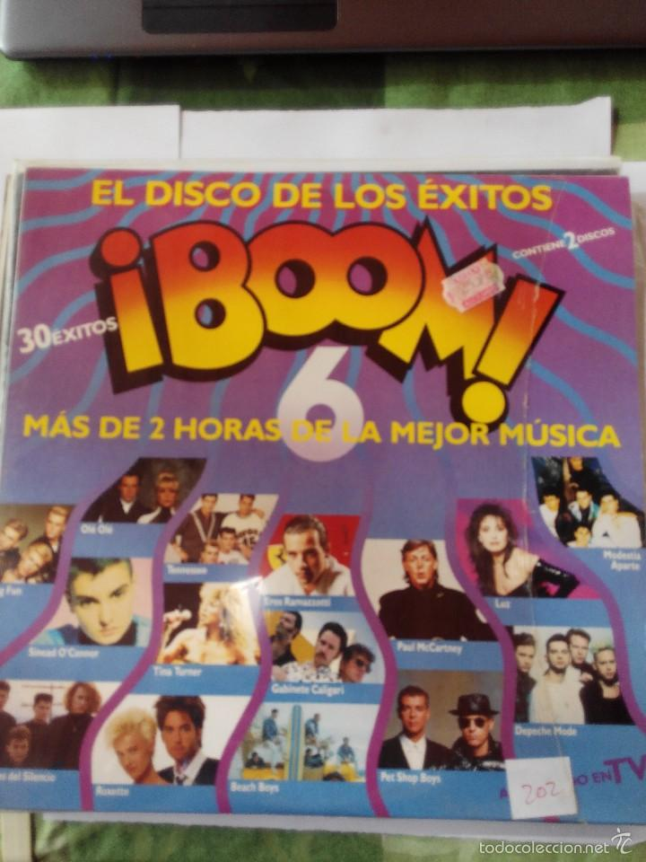 VARIOS ARTISTAS - DISCO BOOM 6 - AÑO 1990 - 2 LP VINILO (Música - Discos - LP Vinilo - Otros estilos)