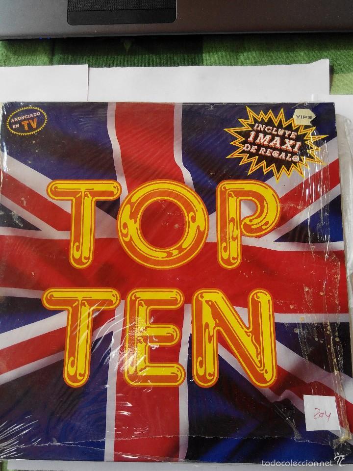 VARIOS ARTISTAS - TOP TEN AÑO 1990- 2 MAXI SINGLES VINILO (Música - Discos de Vinilo - EPs - Disco y Dance)