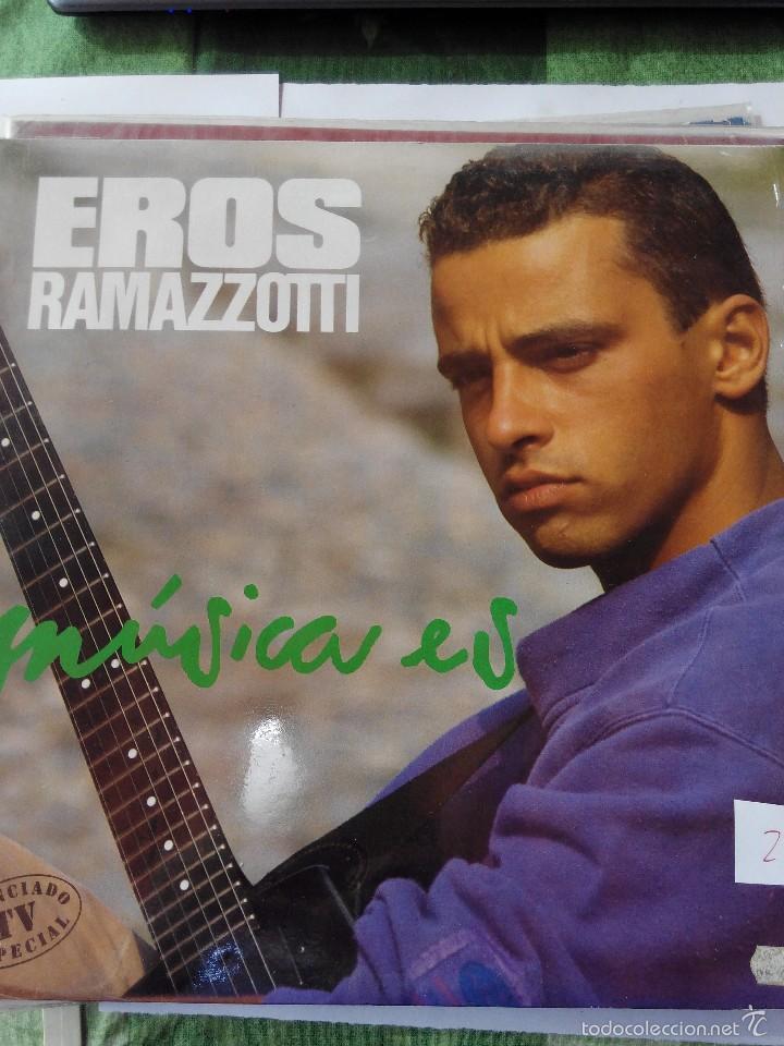 EROS RAMAZZOTTI - MUSICA ES - LP VINILO (Música - Discos - LP Vinilo - Canción Francesa e Italiana)