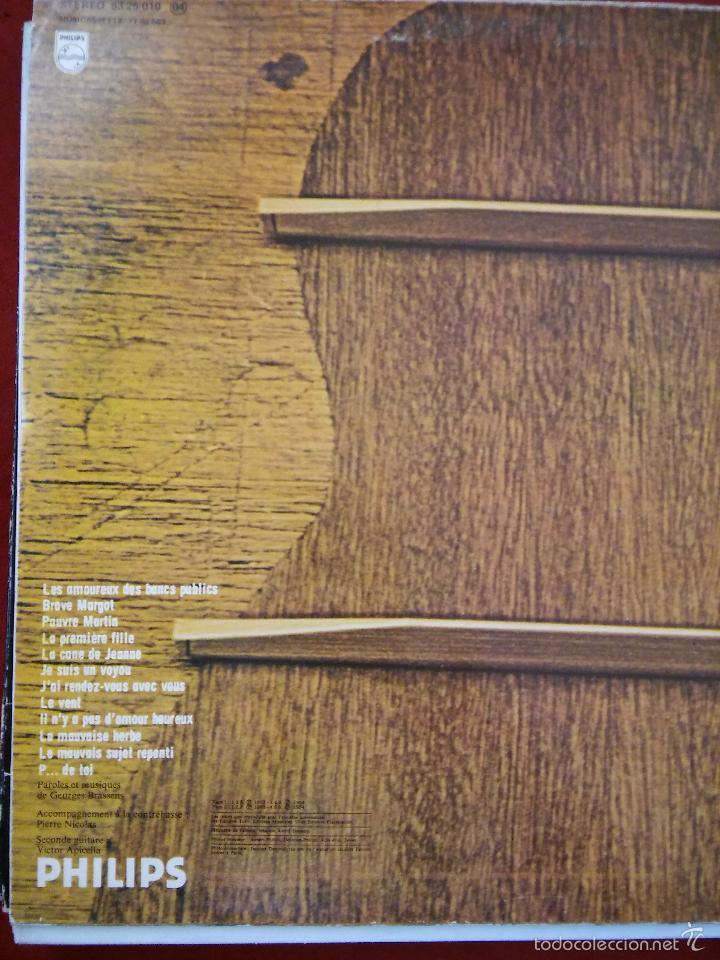 Discos de vinilo: Georges Brassens. Les Amoureux des Banc Publics. Año 1979. Philips - Foto 2 - 48821734
