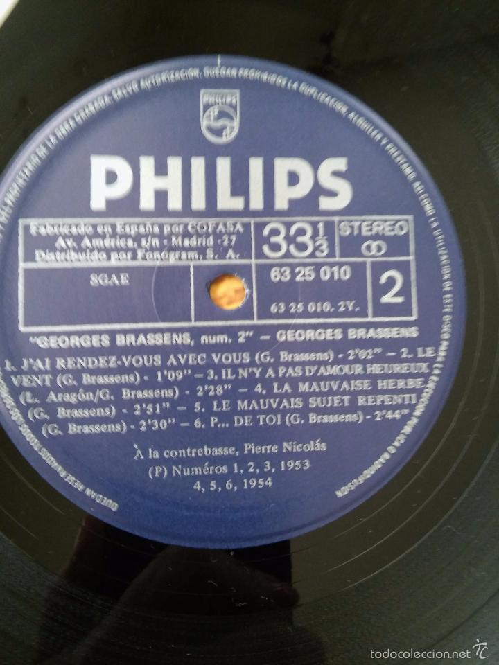 Discos de vinilo: Georges Brassens. Les Amoureux des Banc Publics. Año 1979. Philips - Foto 3 - 48821734