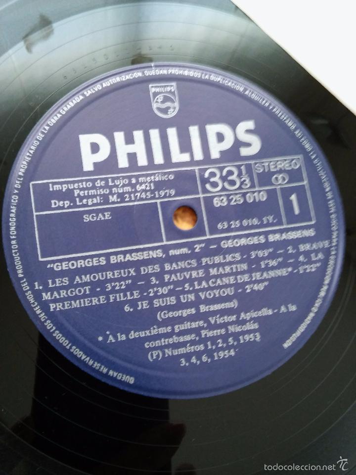 Discos de vinilo: Georges Brassens. Les Amoureux des Banc Publics. Año 1979. Philips - Foto 4 - 48821734