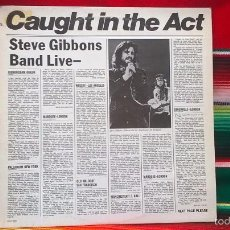 Discos de vinilo: STEVE GIBBONS BAND LIVE- CAUGHT IN THE ACT (ED. USA 1977). Lote 60193043