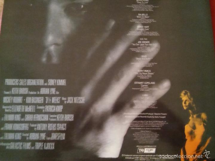 Discos de vinilo: 9 Semanas y Media. Banda Sonora de la película. 1986. - Foto 2 - 48821833