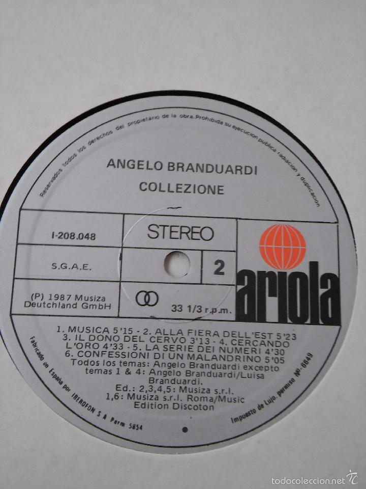 Discos de vinilo: Angelo Branduardi. Collezione. 1987. - Foto 3 - 48822195