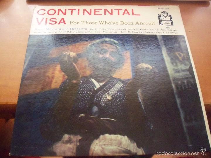 LP DE RAOUL MEYNARD AND ORCHESTRA. CONTINENTAL VISA. EDICION WARNER DE 1958 (USA). (Música - Discos - LP Vinilo - Orquestas)