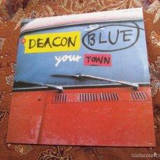Discos de vinilo: DEACON BLUE -MAXI-SINGLE DE VINILO- TITULO YOUR TOWN- CON 2 TEMAS-ORIGINAL DEL 92- NUEVO. Lote 60325231