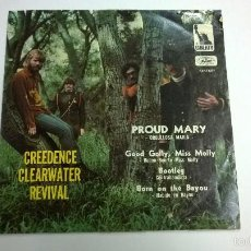Disques de vinyle: CREEDENCE CLEARWATER REVIVAL.PROUD MARY.EP.HECHO EN MEXICO.LIBERTY.. Lote 60338715