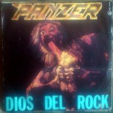 Discos de vinilo: PANZER – DIOS DEL ROCK SINGLE 1985 CARLOS PINA, BARÓN ROJO, OBÚS. Lote 60339955