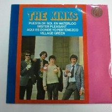 Discos de vinilo: THE KINKS.PUESTA DE SOL EN WATERLOO.EP.ESPAÑA 1967.HISPAVOX.. Lote 60346627