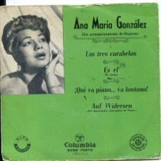 Dischi in vinile: ANA MARIA GONZALEZ / LAS TRES CARABELAS + 3 (EP 1959). Lote 60358683