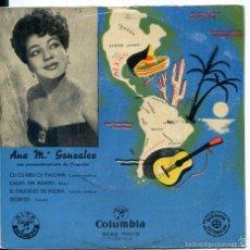 Dischi in vinile: ANA MARIA GONZALEZ / CU CU RRU CU PALOMA + 3 (EP 1962). Lote 60358907