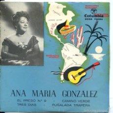 Dischi in vinile: ANA MARIA GONZALEZ / EL PRESO Nº 9 + 3 (EP 1958). Lote 60359203