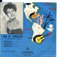 Dischi in vinile: ANA MARIA GONZALEZ / ESPINITA + 3 (EP 1959). Lote 60359287