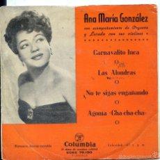 Dischi in vinile: ANA MARIA GONZALEZ / CARNAVALITO INCA + 3 (EP 1959). Lote 60359455