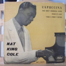 Discos de vinilo: EP DE NAT KING COLE , CAPUCCINA + 3 (AÑO 1962, EAP 1-20.375), VER FOTOS. Lote 60375319