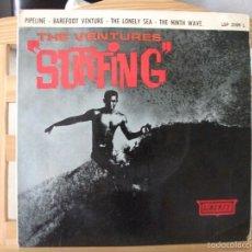Discos de vinilo: EP DEL GRUPO THE VENTURES , SURFING (4 TEMAS, LEP 2109 L, AÑO 1963), VER FOTOS. Lote 60375907