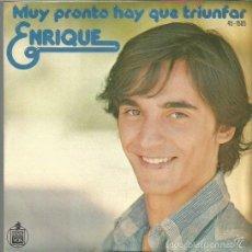 Discos de vinilo: ENRIQUE SINGLE SELLO HISPAVOX AÑO 1977 EDITADO EN ESPAÑA. Lote 60377919