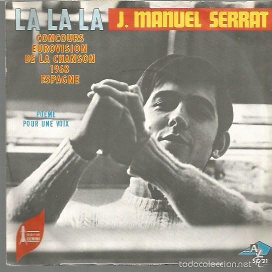 JOAN MANUEL SERRAT CANTA EN FRANCES EUROVISION AÑO1968 SINGLE SELLO AZ EDITADO EN FRANCIA (Música - Discos - Singles Vinilo - Festival de Eurovisión)