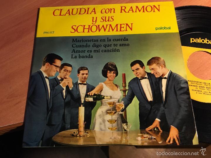 CLAUDIA CON RAMON Y SUS SHOWMEN (MARIONETAS EN LA CUERDA + 3) EP ESPAÑA 1967 (EPI2) (Música - Discos de Vinilo - EPs - Grupos Españoles 50 y 60)