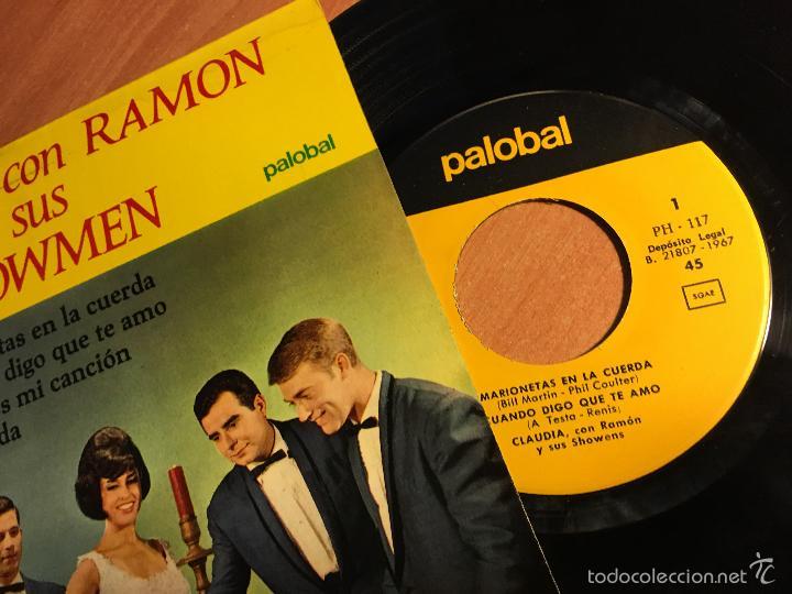 Discos de vinilo: CLAUDIA CON RAMON Y SUS SHOWMEN (MARIONETAS EN LA CUERDA + 3) EP ESPAÑA 1967 (EPI2) - Foto 2 - 60385755