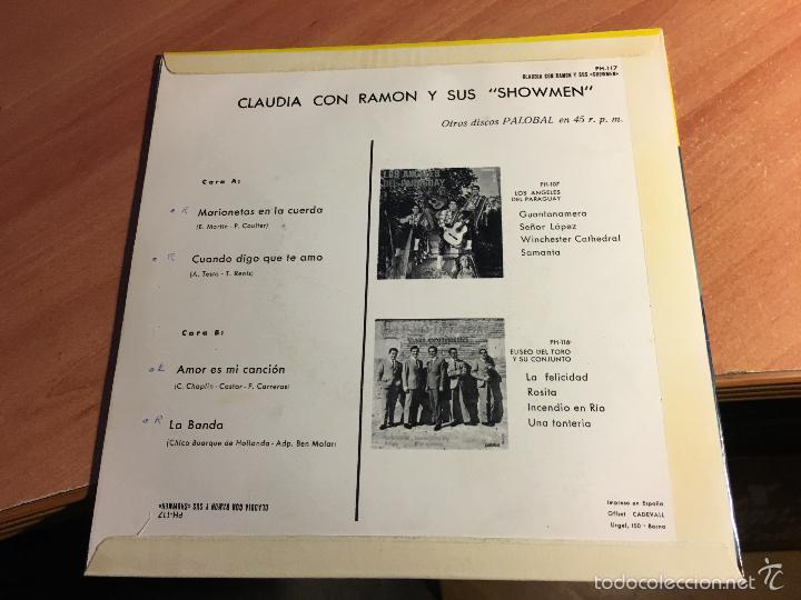 Discos de vinilo: CLAUDIA CON RAMON Y SUS SHOWMEN (MARIONETAS EN LA CUERDA + 3) EP ESPAÑA 1967 (EPI2) - Foto 3 - 60385755