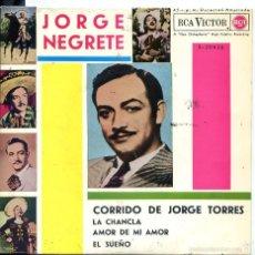 Discos de vinilo: JORGE NEGRETE / CORRIDO DE JORGE TORRES + 3 (EP 1962). Lote 60433691