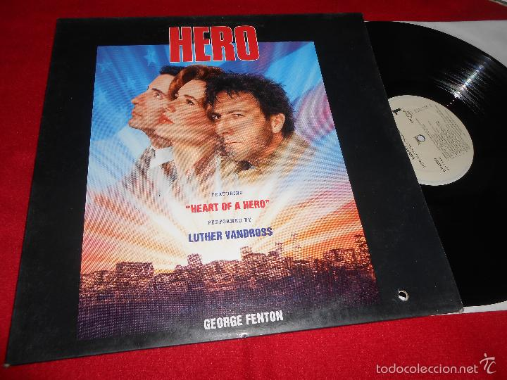 HERO BSO OST GEORGE FENTON GEORGE&IRA GERSHWIN LP 1992 EPIC EDICION ESPAÑOLA SPAIN (Música - Discos - LP Vinilo - Bandas Sonoras y Música de Actores )