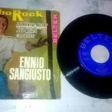 Discos de vinilo: ENNIO SANGIUSTO : LIMBO ROCK + 3 (BELTER 1963) . Lote 60466787