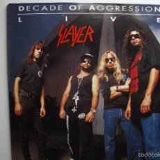 Discos de vinilo: SLAYER- DECADE OF AGGRESSION-LIVE- USA 2 LP 1991+ BOOKLET.. Lote 145219016