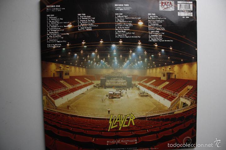 Discos de vinilo: SLAYER- DECADE OF AGGRESSION-LIVE- USA 2 LP 1991+ BOOKLET. - Foto 2 - 145219016