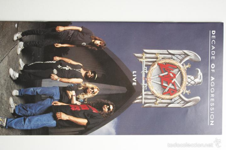 Discos de vinilo: SLAYER- DECADE OF AGGRESSION-LIVE- USA 2 LP 1991+ BOOKLET. - Foto 3 - 145219016