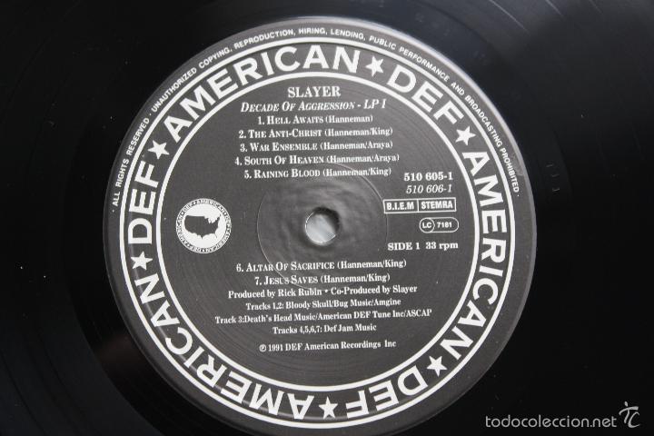 Discos de vinilo: SLAYER- DECADE OF AGGRESSION-LIVE- USA 2 LP 1991+ BOOKLET. - Foto 6 - 145219016