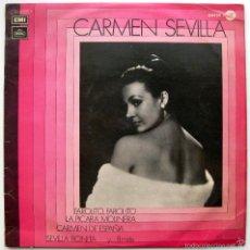 Discos de vinilo: CARMEN SEVILLA - CARMEN SEVILLA - LP EMI REGAL SERIE AZUL 1972 BPY. Lote 60498375