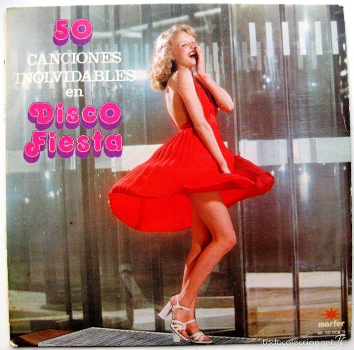 TUPA'S BAND - 50 CANCIONES INOLVIDABLES EN DISCO FIESTA - LP MARFER 1979 BPY (Música - Discos - LP Vinilo - Disco y Dance)