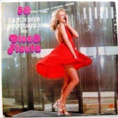 Discos de vinilo: TUPA'S BAND - 50 CANCIONES INOLVIDABLES EN DISCO FIESTA - LP MARFER 1979 BPY. Lote 60526535