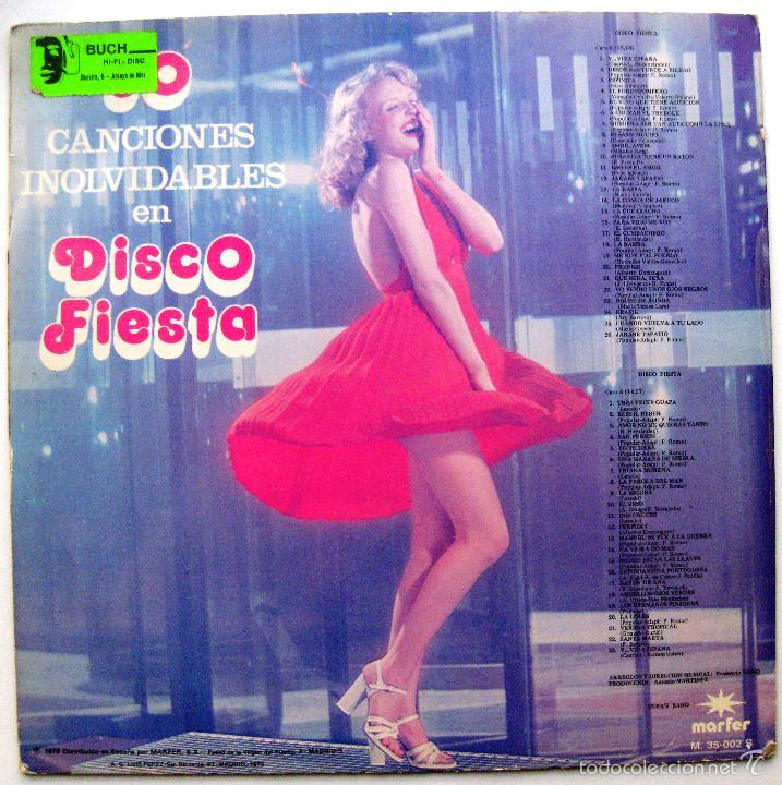Discos de vinilo: Tupas Band - 50 Canciones Inolvidables En Disco Fiesta - LP Marfer 1979 BPY - Foto 2 - 60526535