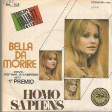 Discos de vinilo: HOMO SAPIENS SINGLE SELLO RIFI AÑO 1977 EDITADO EN ESPAÑA PROMOCIONAL. Lote 60528835